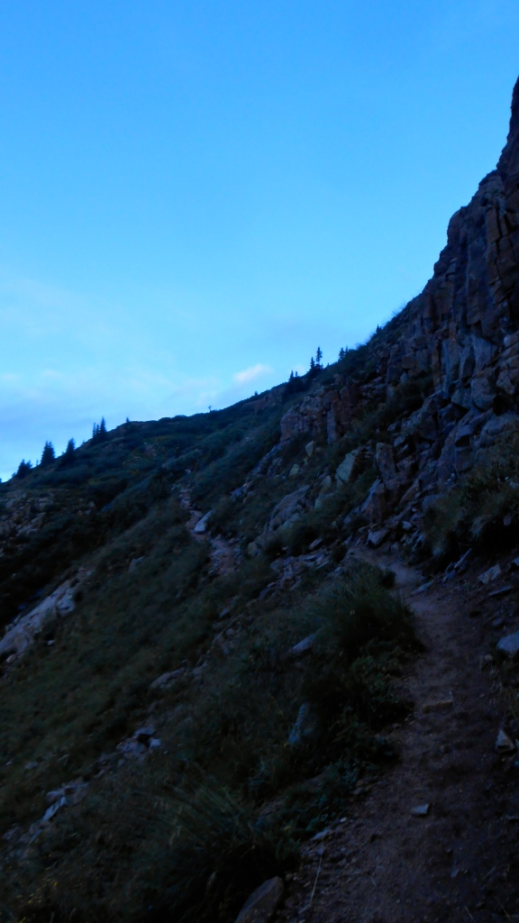 Trail up to Twin Lakes- the jump off point for the Chicago basin peaks.
