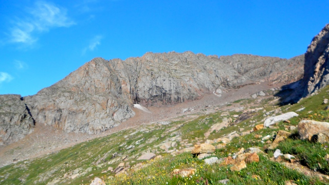 Mt. Eolus, approaching the scramble.