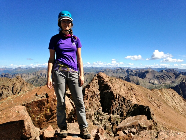 Standing on the Summit of Mt. Eolus 14, 083', and #14 on the #30by30.