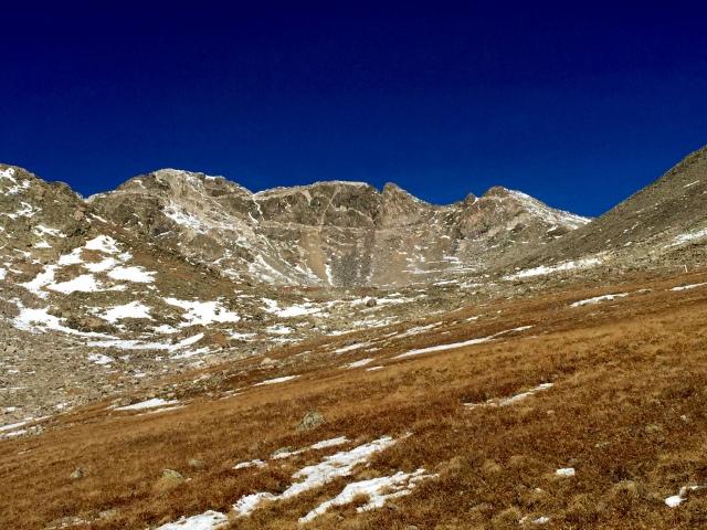 "Wandering up the Monte Crisco Creek drainage, towards ""Drift"""