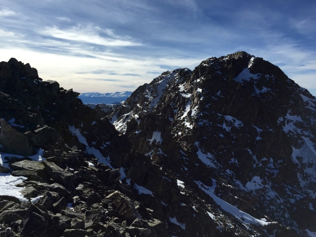 """Looking across to the summit of """"Drift"""""""