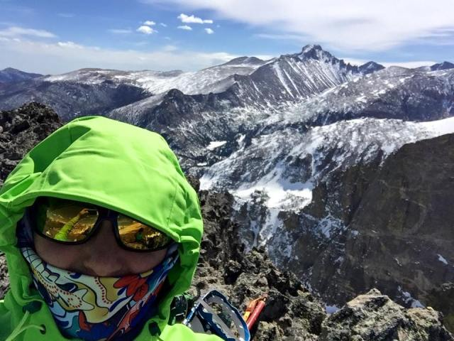 SUMMIT, with longs peak in the background!