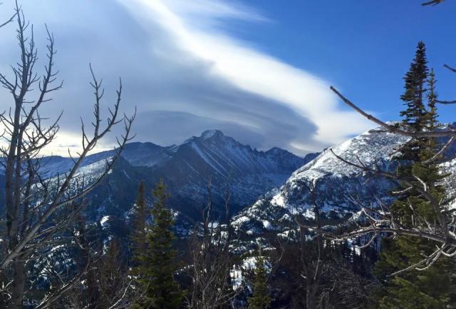 Weather over Longs Peak!